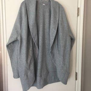 Old Navy Gray Fleece Cocoon Cardigan XXL Tall